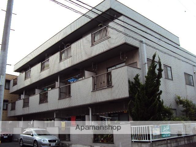 埼玉県蕨市、戸田公園駅徒歩19分の築27年 3階建の賃貸マンション