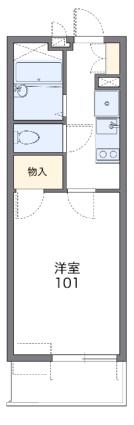 レオパレスエスポワール桜木町[1K/20.81m2]の間取図