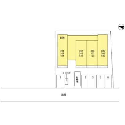 埼玉県さいたま市大宮区上小町[1K/30.03m2]の配置図