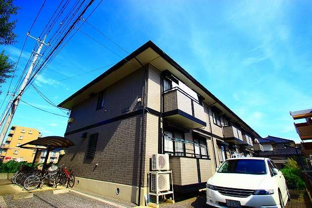 埼玉県富士見市、ふじみ野駅徒歩6分の築17年 2階建の賃貸アパート