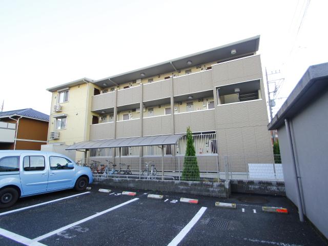 埼玉県朝霞市、朝霞駅徒歩7分の築2年 3階建の賃貸アパート