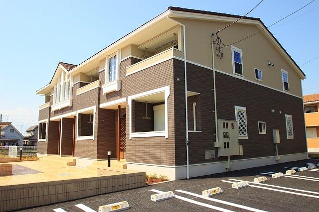 埼玉県富士見市、鶴瀬駅バス5分山室会館下車後徒歩6分の新築 2階建の賃貸アパート