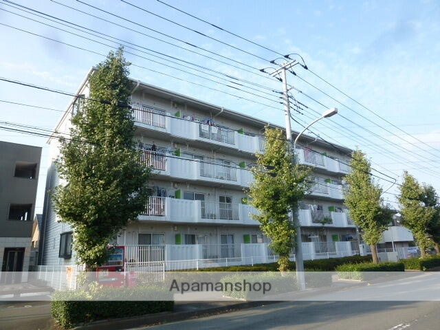 埼玉県富士見市、柳瀬川駅徒歩25分の築28年 4階建の賃貸マンション