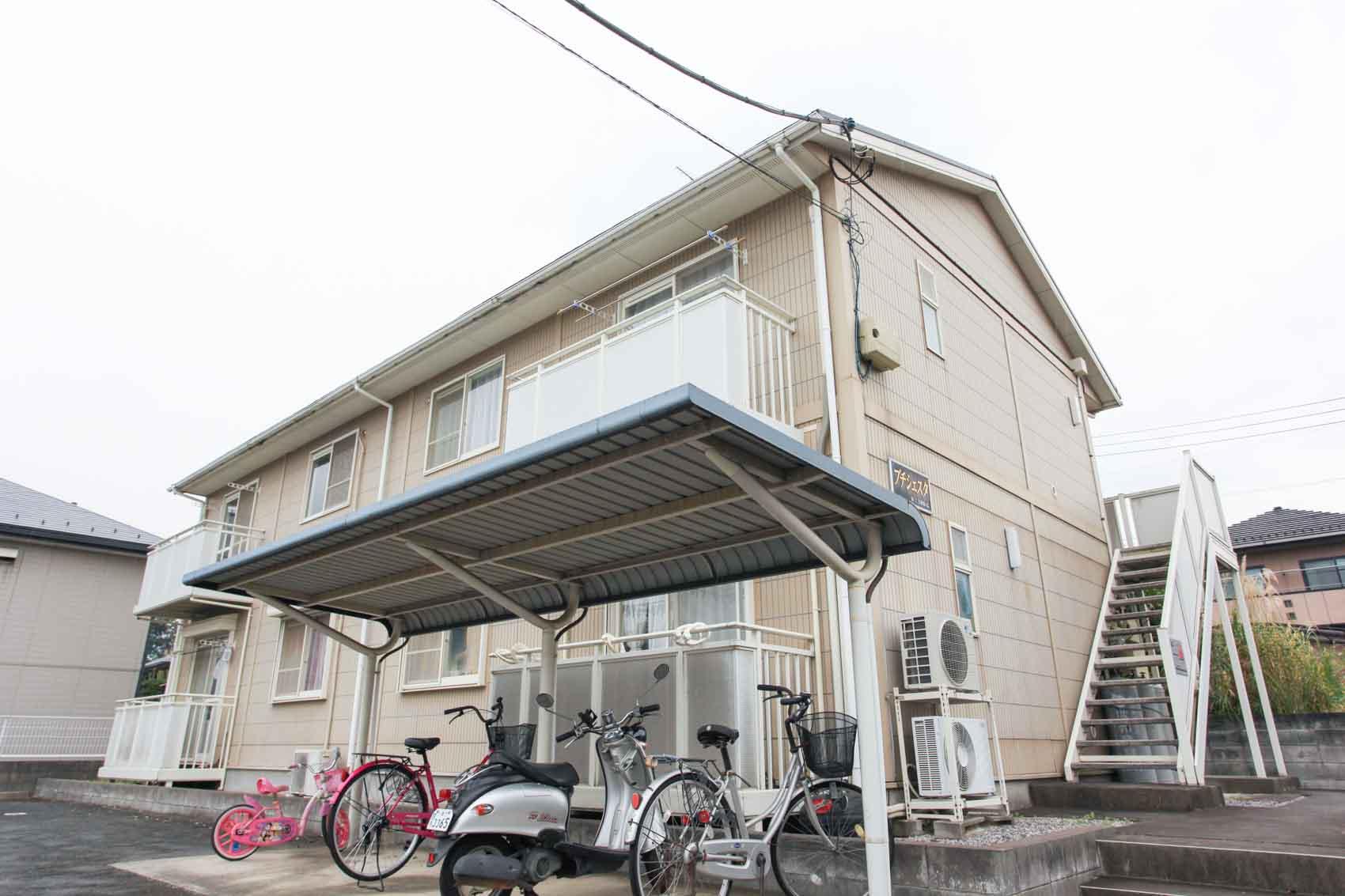 埼玉県川越市、上福岡駅徒歩26分の築18年 2階建の賃貸アパート
