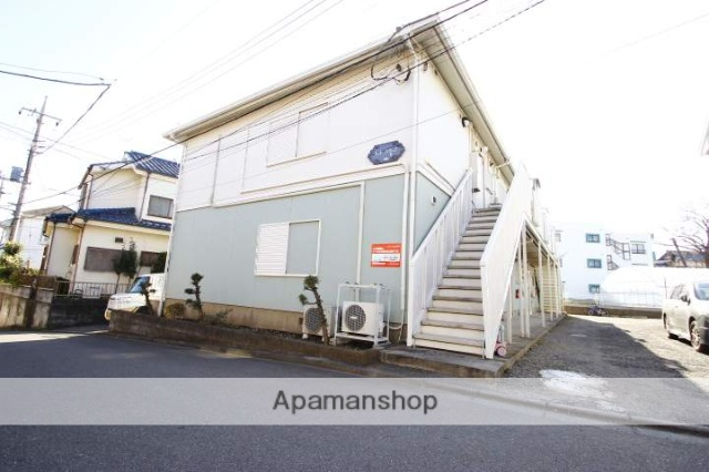 埼玉県富士見市、鶴瀬駅徒歩24分の築27年 2階建の賃貸アパート