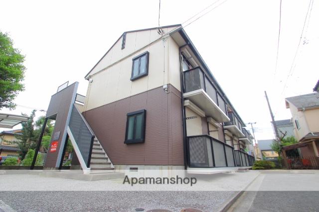 埼玉県富士見市、鶴瀬駅徒歩20分の築22年 2階建の賃貸アパート
