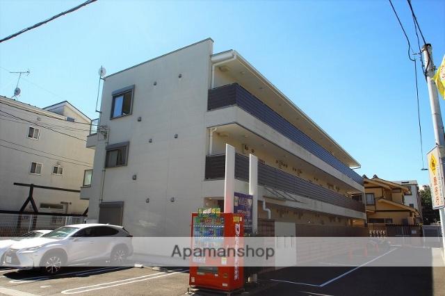 埼玉県富士見市、みずほ台駅徒歩21分の築1年 3階建の賃貸アパート
