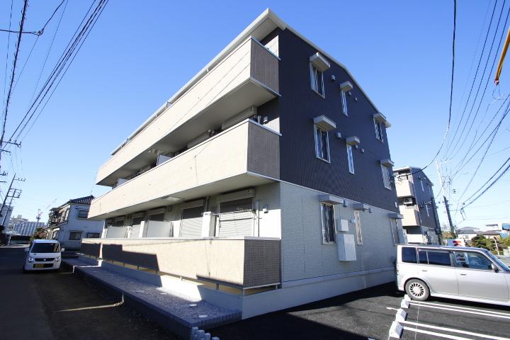 埼玉県川越市、南古谷駅徒歩12分の新築 3階建の賃貸アパート
