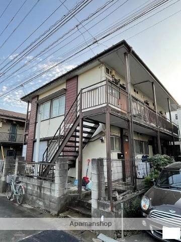 埼玉県川越市、上福岡駅徒歩20分の築46年 2階建の賃貸アパート