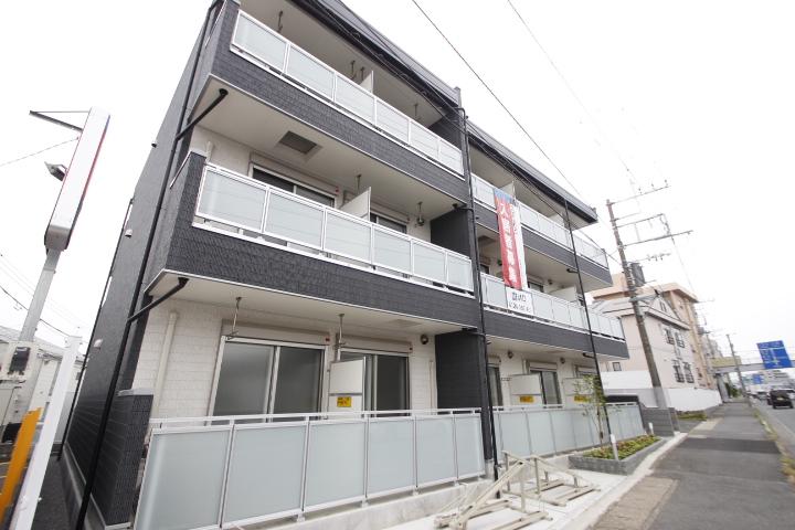 埼玉県川越市、新河岸駅徒歩27分の新築 3階建の賃貸アパート