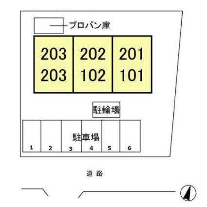 埼玉県さいたま市見沼区春岡3丁目[2LDK/50.09m2]の配置図