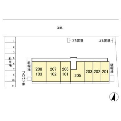 埼玉県さいたま市見沼区東大宮1丁目[1LDK/41.78m2]の配置図