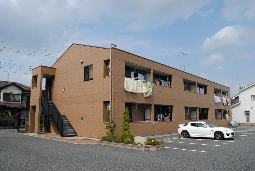 埼玉県熊谷市、籠原駅徒歩43分の築7年 2階建の賃貸アパート