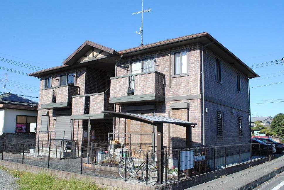 埼玉県熊谷市、熊谷駅国際バスバス12分遠新田下車後徒歩8分の築12年 2階建の賃貸アパート