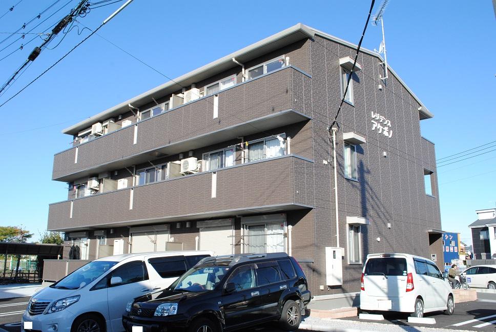 埼玉県熊谷市、熊谷駅国際バスバス15分円光下車後徒歩12分の築2年 3階建の賃貸アパート