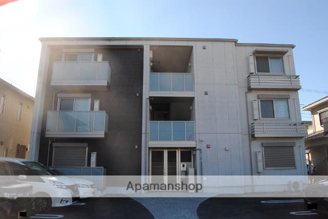埼玉県熊谷市、熊谷駅朝日バスバス15分西熊谷病院下車後徒歩3分の築1年 3階建の賃貸アパート