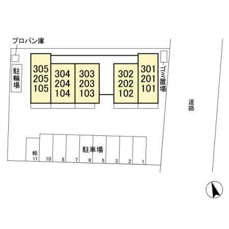 埼玉県熊谷市、熊谷駅徒歩11分の新築 3階建の賃貸アパート
