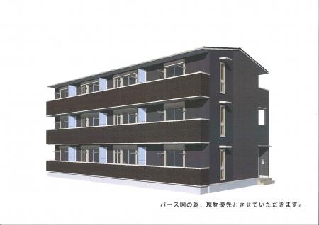 埼玉県熊谷市、熊谷駅徒歩8分の新築 3階建の賃貸アパート