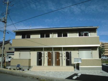 埼玉県熊谷市、ひろせ野鳥の森駅徒歩2分の築2年 2階建の賃貸アパート
