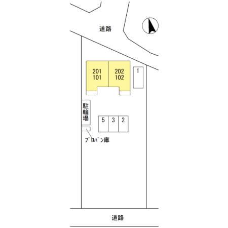 埼玉県熊谷市、熊谷駅バス20分遠新田下車後徒歩8分の新築 2階建の賃貸アパート