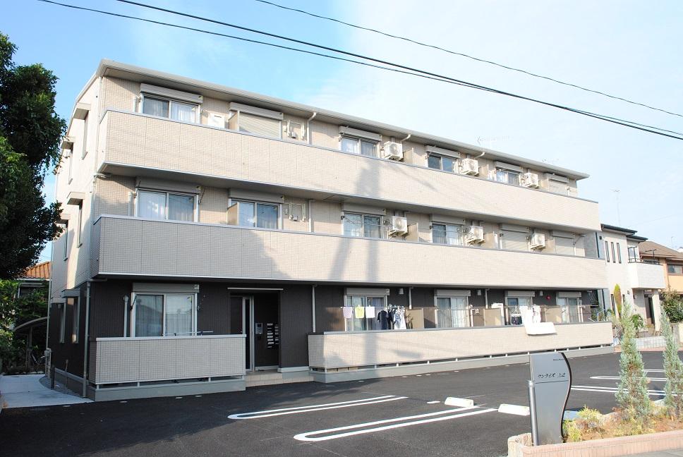 埼玉県熊谷市、熊谷駅徒歩25分の築2年 3階建の賃貸アパート