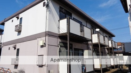 埼玉県八潮市、草加駅徒歩25分の築32年 2階建の賃貸アパート