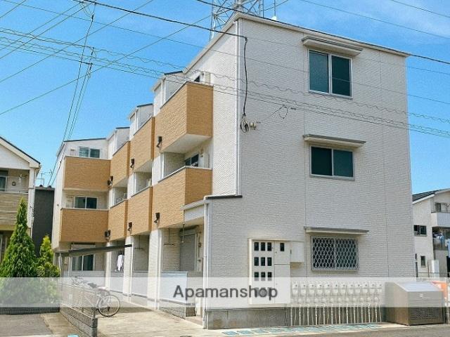 埼玉県八潮市、八潮駅徒歩13分の新築 3階建の賃貸アパート