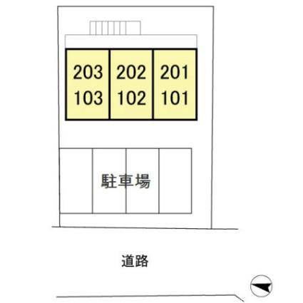 千葉県千葉市中央区鶴沢町[1K/17.49m2]の配置図