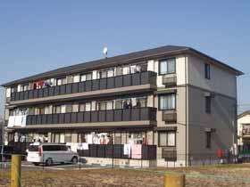 千葉県千葉市稲毛区、稲毛駅バス8分熊野神社下車後徒歩7分の築17年 3階建の賃貸アパート