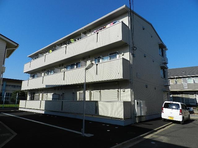 千葉県船橋市、西船橋駅バス14分諏訪神社下車後徒歩7分の築6年 3階建の賃貸アパート