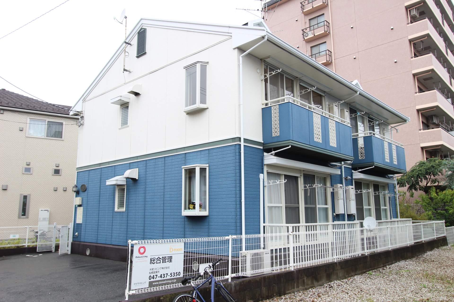 千葉県船橋市、西船橋駅徒歩17分の築23年 2階建の賃貸アパート