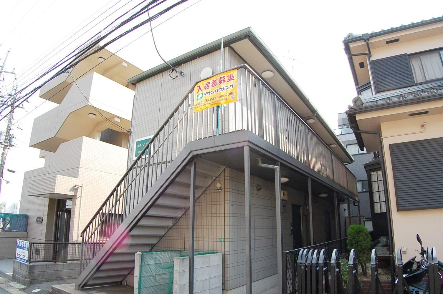 千葉県船橋市、下総中山駅徒歩17分の築14年 2階建の賃貸アパート