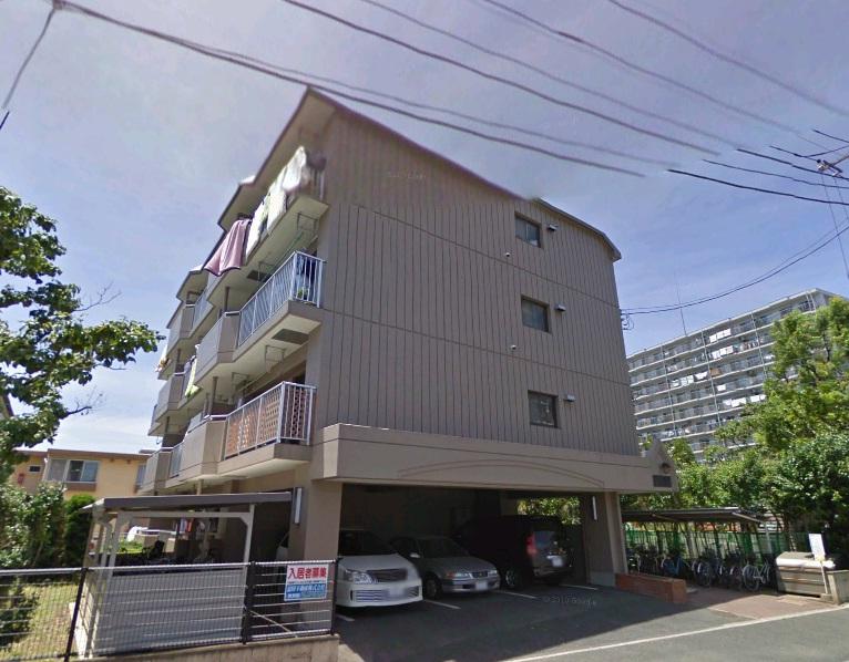 千葉県市川市、市川大野駅徒歩17分の築30年 4階建の賃貸マンション