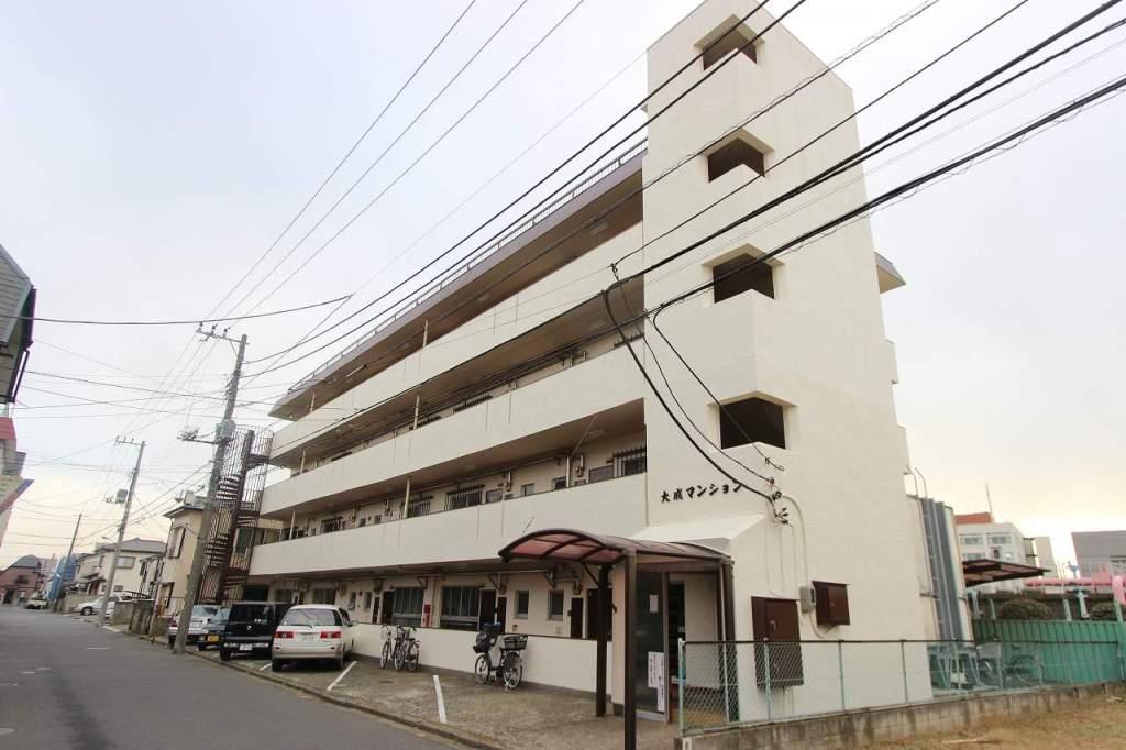 千葉県市川市、本八幡駅徒歩15分の築43年 4階建の賃貸マンション