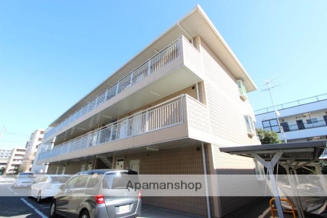 千葉県市川市、市川駅徒歩7分の築25年 3階建の賃貸アパート