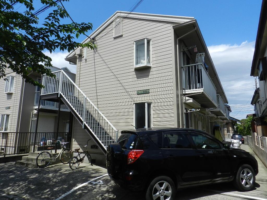 千葉県市川市、本八幡駅徒歩21分の築27年 2階建の賃貸アパート