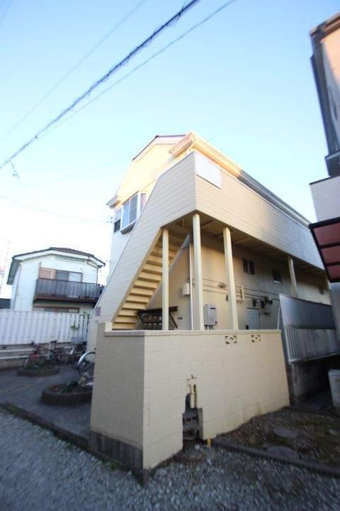 千葉県市川市、本八幡駅徒歩18分の築25年 2階建の賃貸アパート