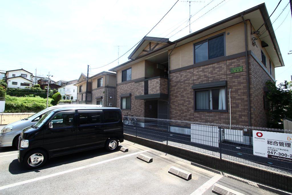 千葉県市川市、北国分駅徒歩9分の築16年 2階建の賃貸アパート