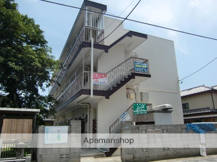 千葉県市川市、市川駅徒歩13分の築46年 3階建の賃貸マンション