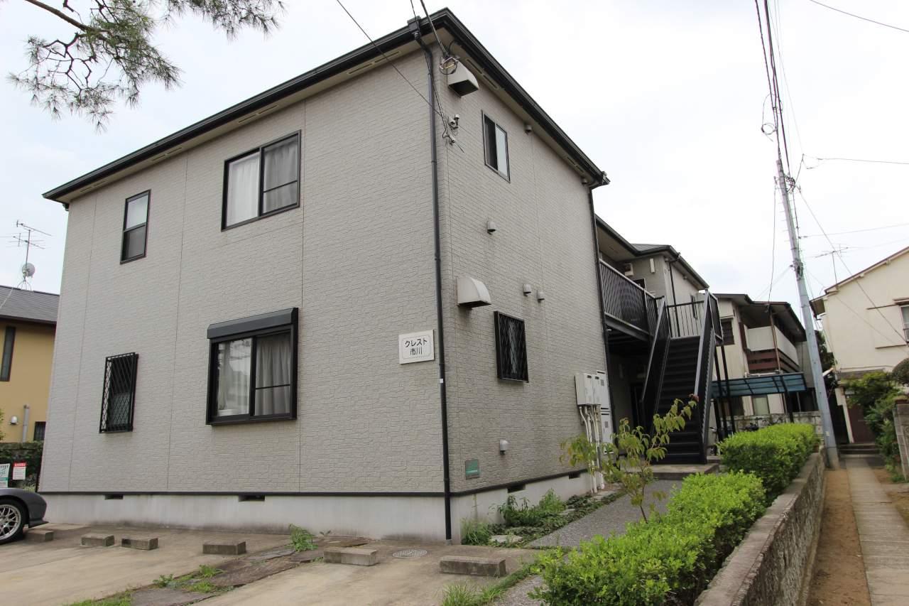 千葉県市川市、市川駅徒歩12分の築15年 2階建の賃貸アパート