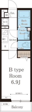 リブリ・ル・シェノン[1K/22.35m2]の間取図