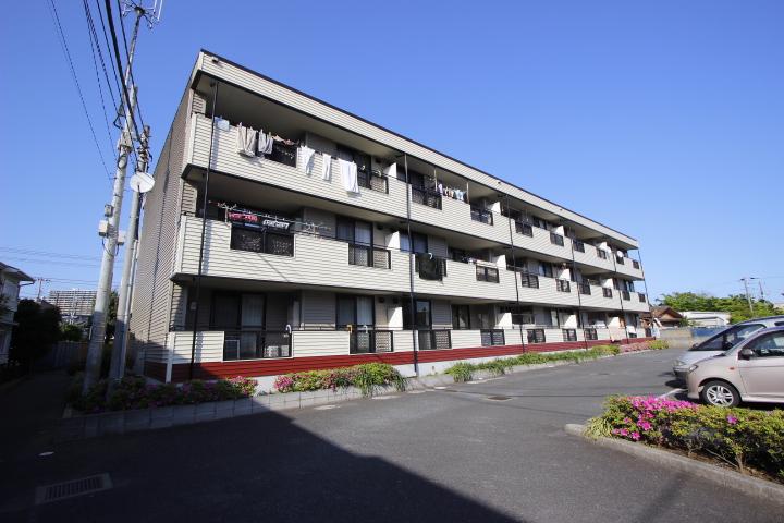 千葉県習志野市、津田沼駅徒歩22分の築22年 3階建の賃貸マンション
