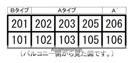 ホワイトコート[1R/28.24m2]の配置図