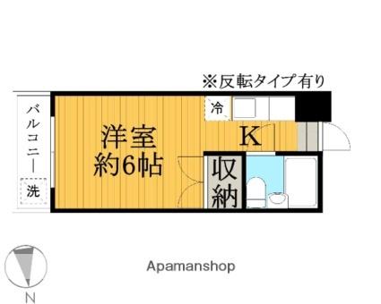サンライズ多田[1R/17.39m2]の間取図