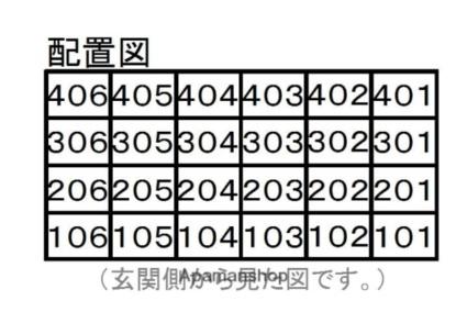 サンライズ多田[1R/17.39m2]の配置図