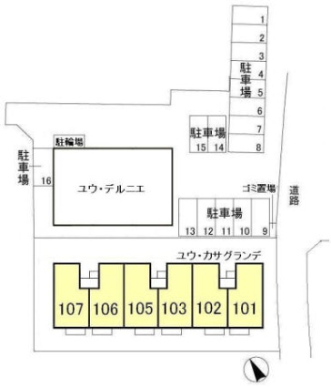 千葉県船橋市前原東6丁目[1LDK/41.26m2]の配置図