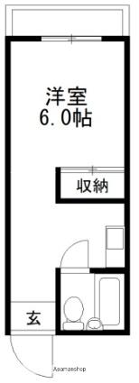 立川荘[1R/22.35m2]の間取図