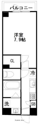 プリズム13番館[1K/26.1m2]の間取図