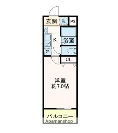 千葉県浦安市富士見4丁目[1K/20.88m2]の配置図