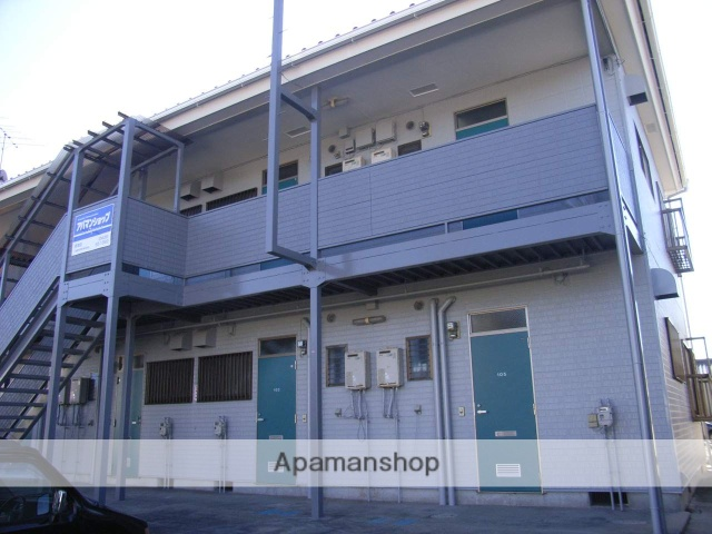 千葉県君津市、君津駅徒歩13分の築23年 2階建の賃貸アパート
